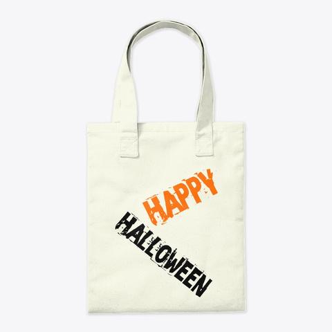 Halloween Tote Halloween Mug Natural T-Shirt Back