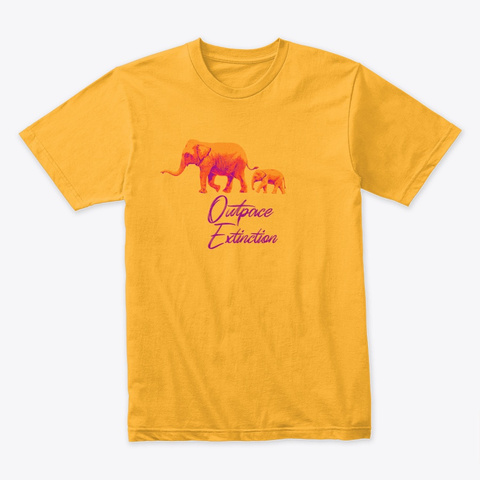 2019 Outpace Extinction Tee Gold T-Shirt Front