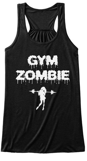 Gym Zombie Black T-Shirt Front