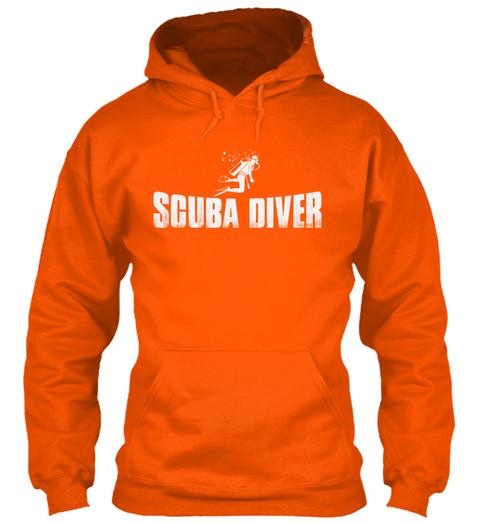 Scuba Diver Safety Orange T-Shirt Front