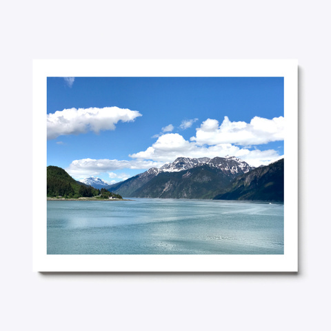 Calm Waters Of Haines White T-Shirt Front