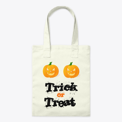 Halloween Tote Halloween Mug Natural T-Shirt Front