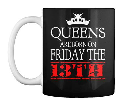 Friday The 13th Birthday Gift Coffee Mug Black T-Shirt Front