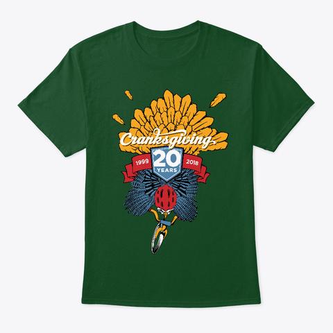 Cranksgiving 2018 Deep Forest T-Shirt Front