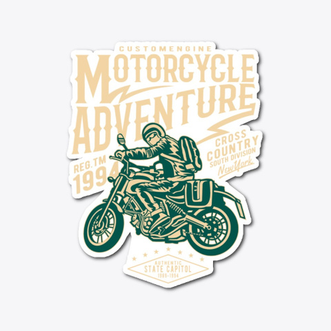 Motorcycle Adventure   Awesome Motorcycl Standard T-Shirt Front