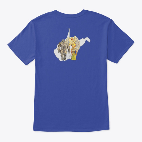 The Bump Podcast Wv Cryptid Crew Deep Royal T-Shirt Back
