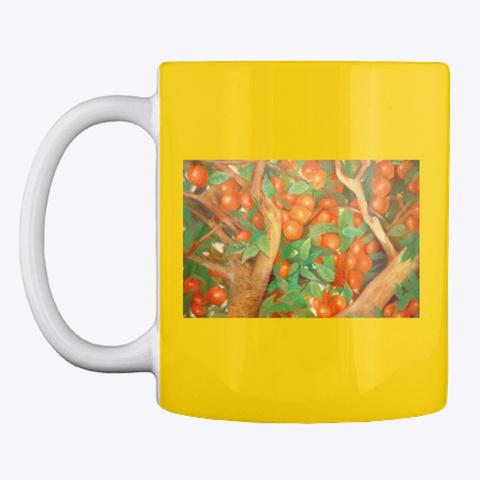 Orange Tree Mug Lemon Yellow T-Shirt Front