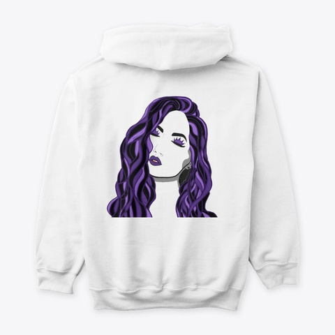 Purple Queen White T-Shirt Back