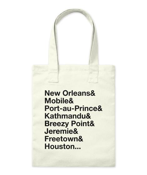 #Long Live Salone Natural Tote Bag Front
