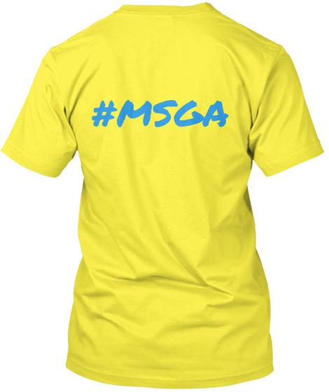 #Msga Yellow T-Shirt Back