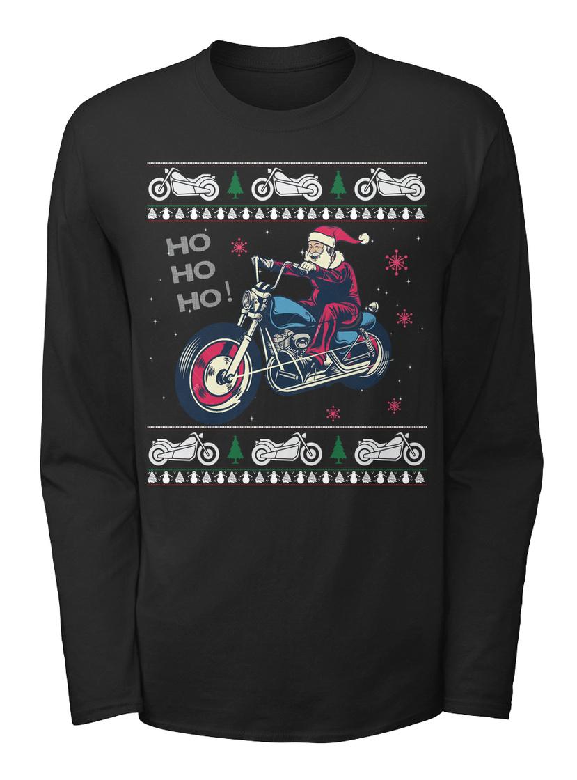 Motorcycle Ugly Christmas Sweater Bikers