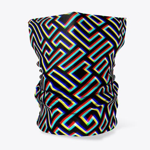 Amazing Maze   Retro Pattern Black T-Shirt Front