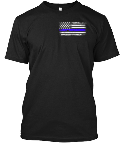Thin Blue Line:I Hunt The Evil Black T-Shirt Front