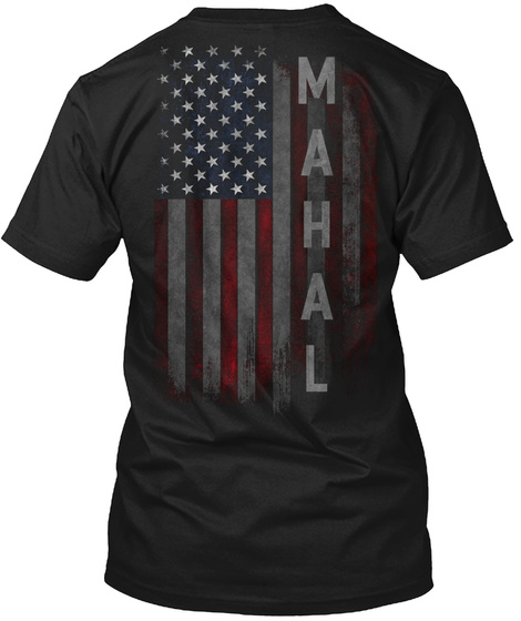 Mahal Family American Flag Black T-Shirt Back
