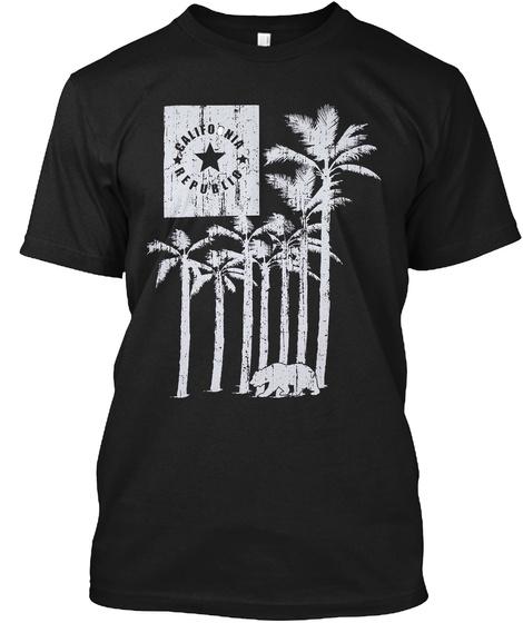 California Republic Black T-Shirt Front