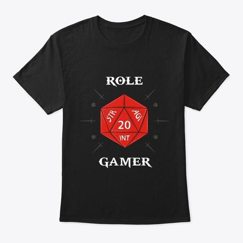 Role Gamer Black T-Shirt Front