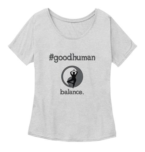 #Goodhuman Balance. Athletic Heather T-Shirt Front