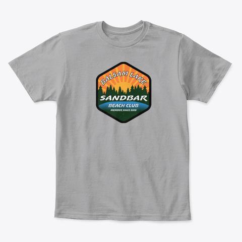 Balsam Lake Sandbar Beach Club Light Heather Grey  T-Shirt Front