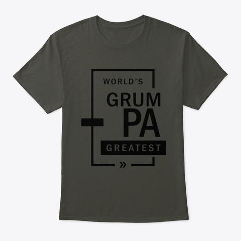Mens World's Grumpa Greatest Grandpa  Smoke Gray T-Shirt Front