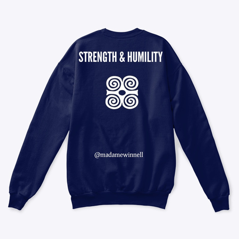 Strong Af Cry Tee  Navy  T-Shirt Back