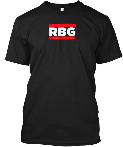 """Rbg"" Ruth Bader Ginsburg Old School Rap Black T-Shirt Front"