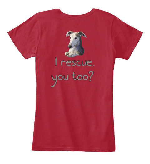 I Rescue You Too? Red Women's T-Shirt Back