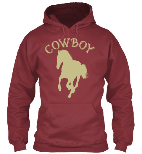 Cow Boy Maroon T-Shirt Front