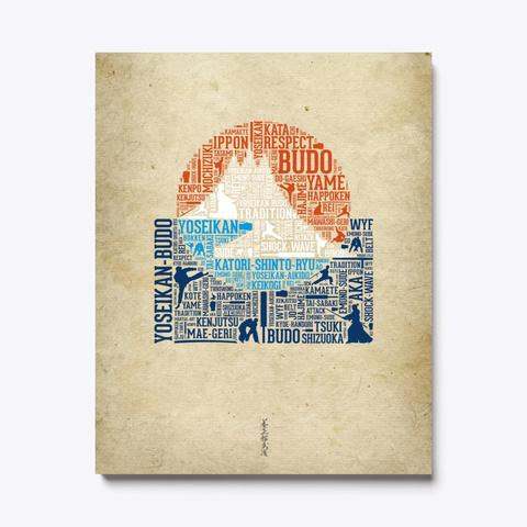 Canvas Lettering Yoseikan Logo Standard Maglietta Front
