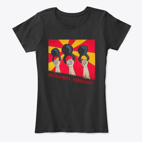 Bottoms Up Kettlebell  Rebellion Shirt Black T-Shirt Front