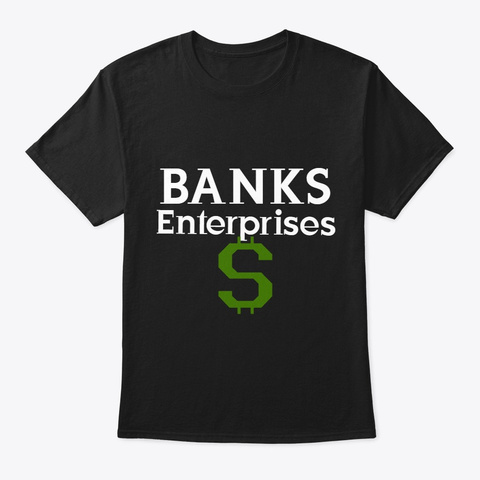 Banks Enterprises Tee Black T-Shirt Front