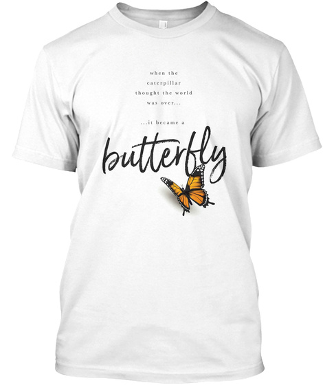 Butterfly  White T-Shirt Front