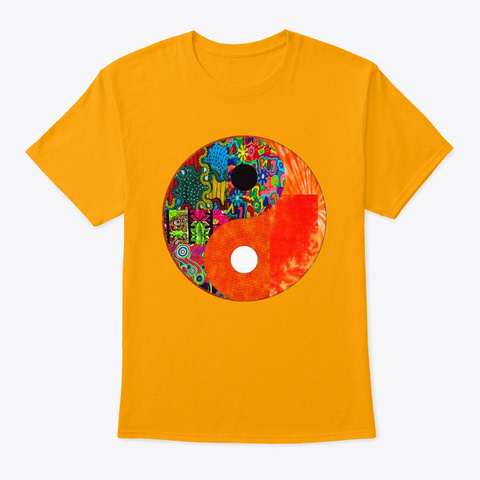 Vibrant Yin And Yang  Gold T-Shirt Front