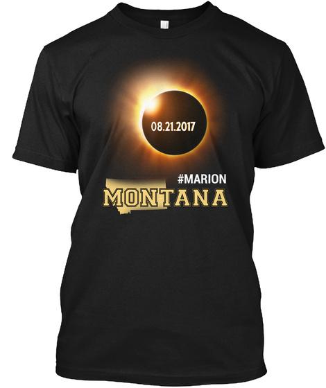 Eclipse Marion Mt. Customizable City Black T-Shirt Front