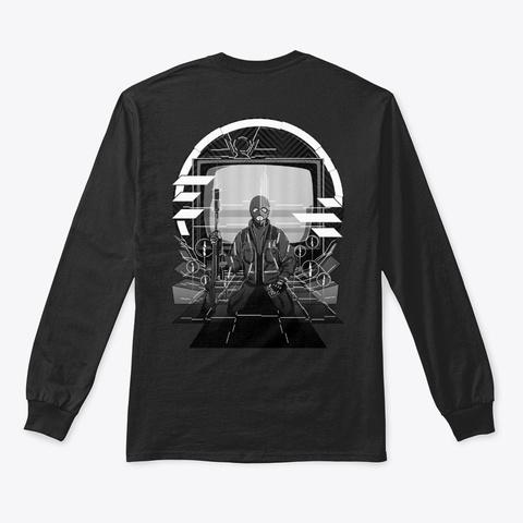 Sensei Scav's Meditation 2 Sided Black T-Shirt Back