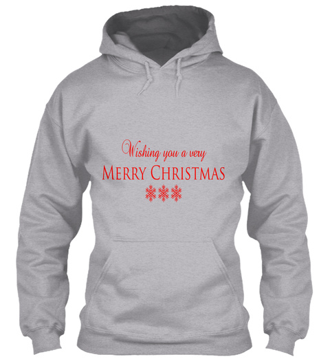 Wishing You A Very Marry Christmas Sport Grey T-Shirt Front