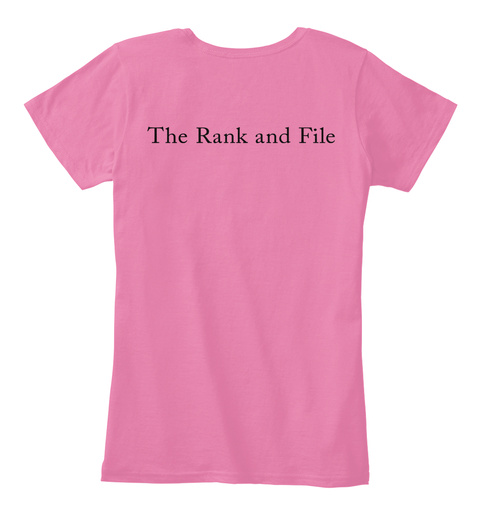 Brainy Fangirls True Pink T-Shirt Back
