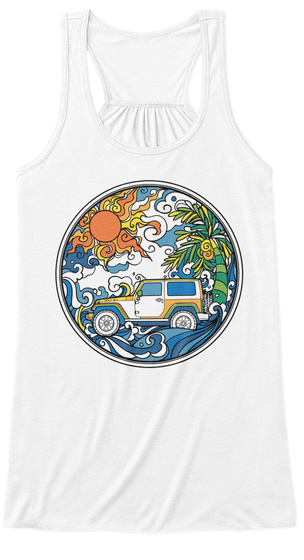 Zeep Me To The Beach White T-Shirt Front