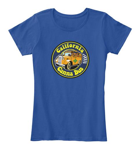 California Canna Bus T Shirt Deep Royal  T-Shirt Front
