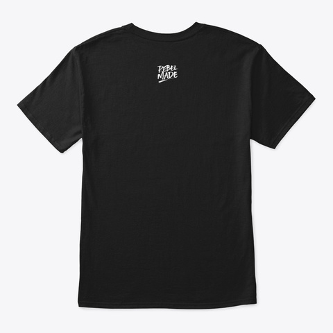 Eye Of The Tiger (White) Black T-Shirt Back