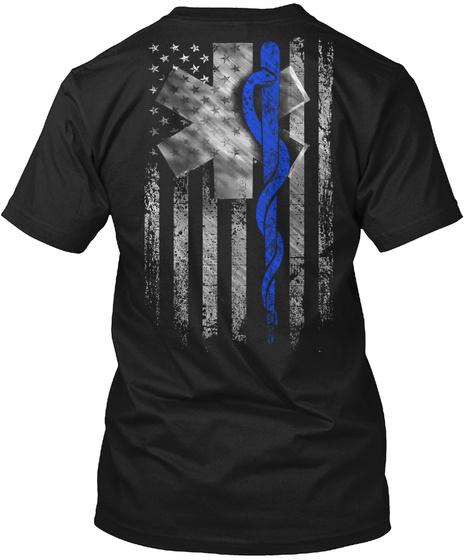 Emt Flag Black T-Shirt Back