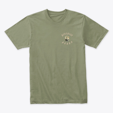 Distorted Skull Light Olive T-Shirt Front