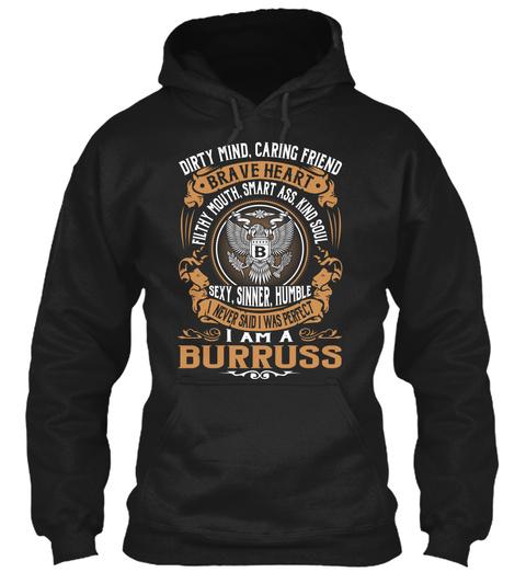 Burruss Black T-Shirt Front