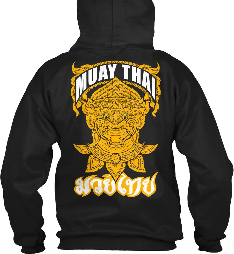 Details about Muay Thai Hanuman Fighter Gildan Hoodie Sweatshirt
