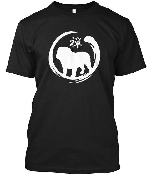 Bulldog Zen Black T-Shirt Front