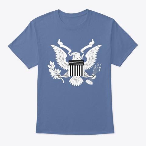 American Eagle   White Denim Blue T-Shirt Front