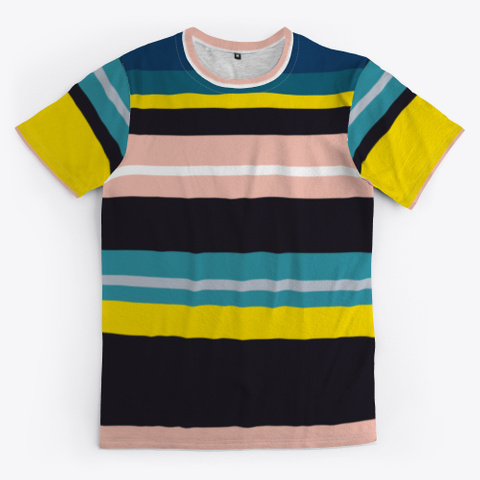 Classic Colorful Striped Art Standard T-Shirt Front