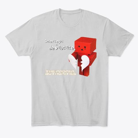 Intercept And Devastate: Broken Heart Light Heather Grey  T-Shirt Front