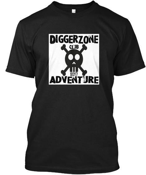 Diggerzone Club 2017 Adventure Black T-Shirt Front