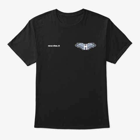 Hawk Silver With Link Black T-Shirt Front