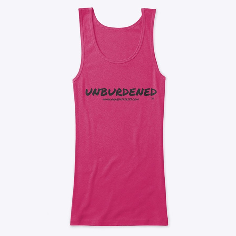 Unburdened Tank Top Berry T-Shirt Front